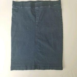 Jeans Denim Skirt Pencil Straight Size 8 10 12